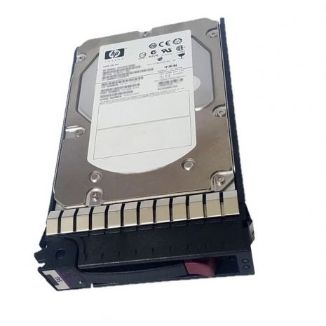 495808-001 600GB 15000RPM Dual Port Fibre Channel Hot-Swappable 3.5-inch Hard Drive with Tray for StorageWorks Eva M6412a by HP (Refurbished)