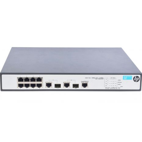 JG537A 1910-8-PoE+ Switch 8 Ports Manageable 2 x Expansion Slots 10/100Base-TX 10/100/1000Base-T Shared SFP Slot 2 x SFP Slots 2 Layer Supported 1 by HP (Refurbished)