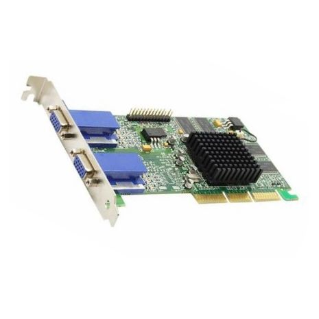 59P7862 Millennium G450 Dual HEAD AGP 4X 32MB DDR SDRAM Low Profile Graphics Card without Cable by IBM (Refurbished)